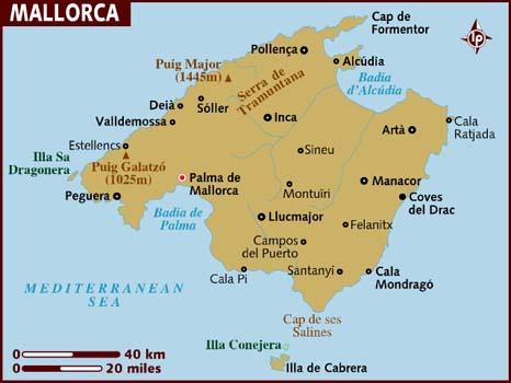 Mallorca landkaart